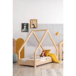 Detská posteľ v tvare domčeka z borovicového dreva
