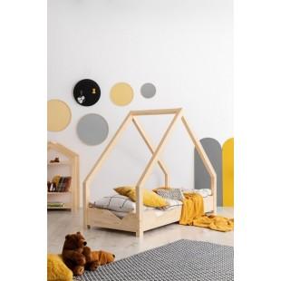 Drevená detská posteľ z borovice Happy Kid