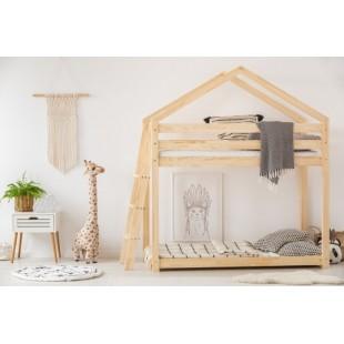Poschodová kvalitná posteľ z borovice pre dvoch