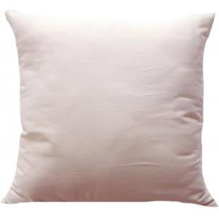 Obliečka na vankúš zo saténovej bavlny v kapučínovej farbe