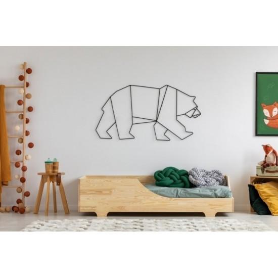 Borovicová posteľ s bočnicami a výrezom