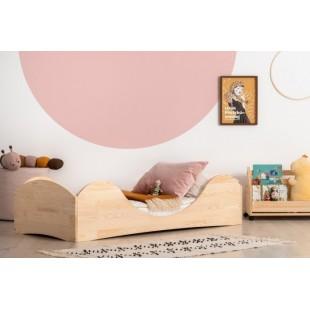 Moderná borovicová posteľ s oblúkmi