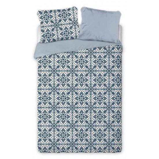 Bavlnené obojstranné obliečky s modro bielym vzorom