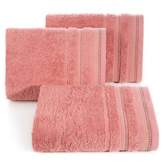 Rúžová jednofarebná osuška z česanej bavlny
