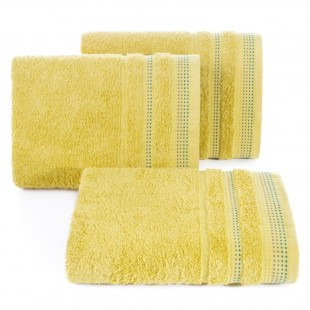 Horčicový jednofarebný uterák z česanej bavlny