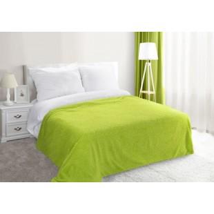 Zelená dekoračná deka na posteľ zo syntetickej bavlny