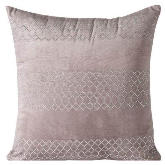 Rúžová dekoračná obliečka na vankúš so strieborným vzorom
