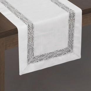 Dekoračný behúň na stôl s čipkovaným lemom