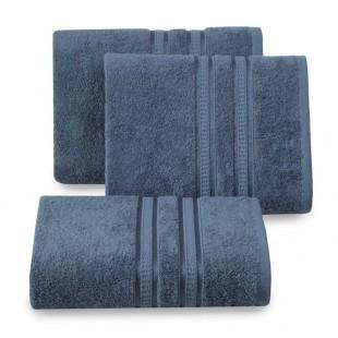 Tmavomodrý bavlnený uterák