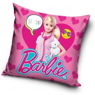 Rúžová obliečka na vankúš Barbie veterinárka