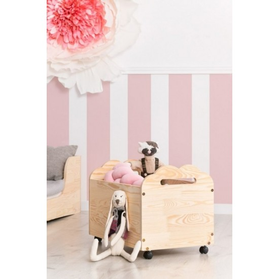 Detský box na hračky s obláčikovými výrezmi