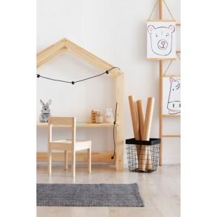 Detský borovicový drevený stôl so strieškou