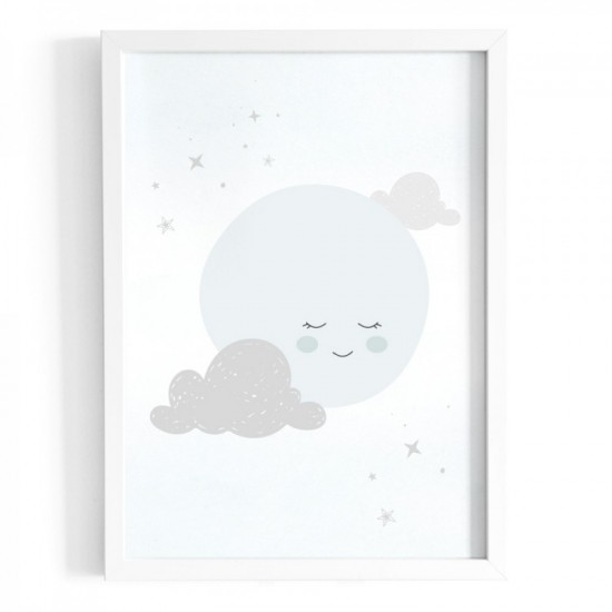 Plagát na stenu s motívom spiaceho mesiaca