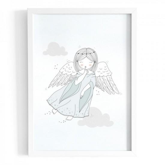 Plagát na stenu s motívom strážneho anjela