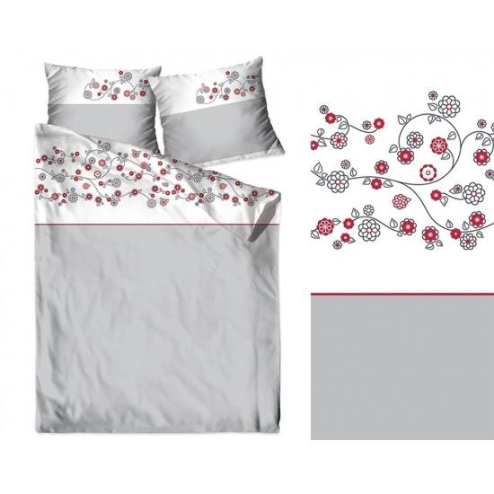 Bavlnené sivo biele posteľné obliečky so vzorom