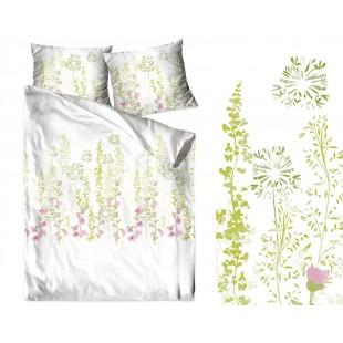 Bavlnené posteľné obliečky s rastlinným motívom
