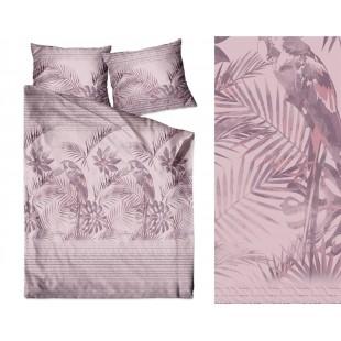 Elegantné posteľné obliečky zo saténovej bavlny s exotickým motívom