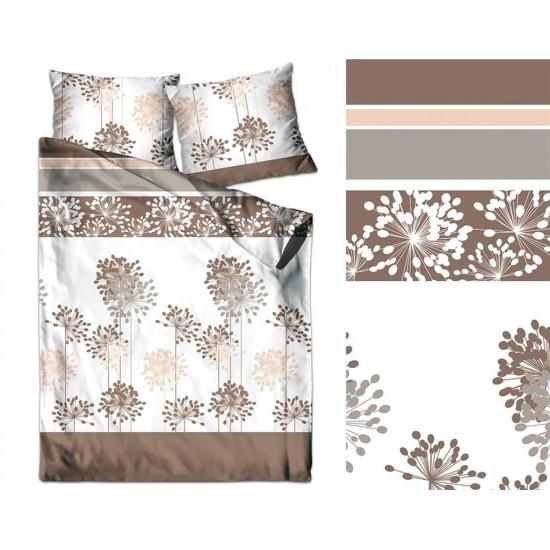Obojstranné posteľné obliečky zo saténovej bavlny v zemitých farbách
