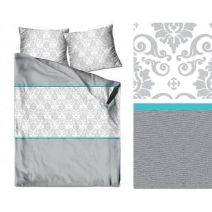 Obojstranné posteľné obliečky zo saténovej bavlny s ornamentami