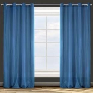 Jednofarebný stredne zatemňujúci modrý záves