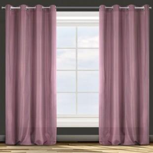 Jednofarebný stredne zatemňujúci rúžový záves