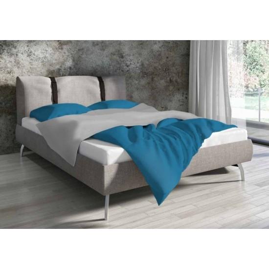 Bavlnené tyrkysové jednofarebné posteľné obliečky
