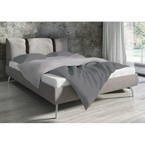 Bavlnené sivé jednofarebné posteľné obliečky