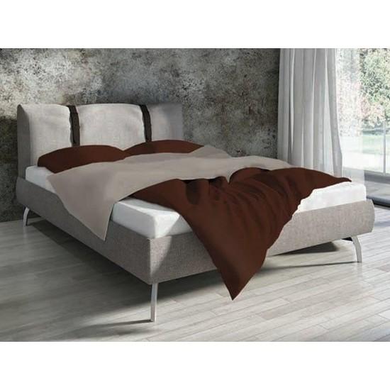Bavlnené hnedé jednofarebné posteľné obliečky