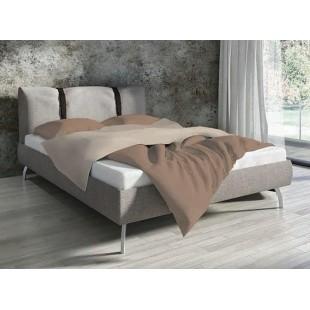Bavlnené svetlohnedé jednofarebné posteľné obliečky