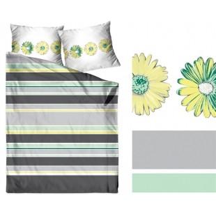 Bavlnené pásikavé posteľné obliečky zo saténovej bavlny