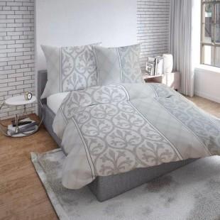 Sivé vzorované obojstranné posteľné obliečky