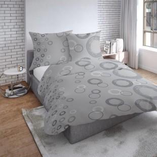 Sivé obojstranné posteľné obliečky zo saténovej bavlny