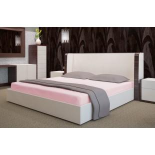 Svetloružová posteľná plachta zo saténovej bavlny bez gumičky
