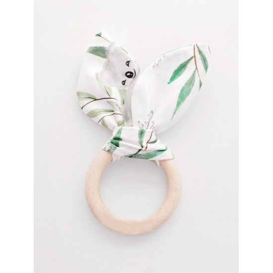 Biele ekologické drevené hryzátko z kolekcie MAMA KOALA