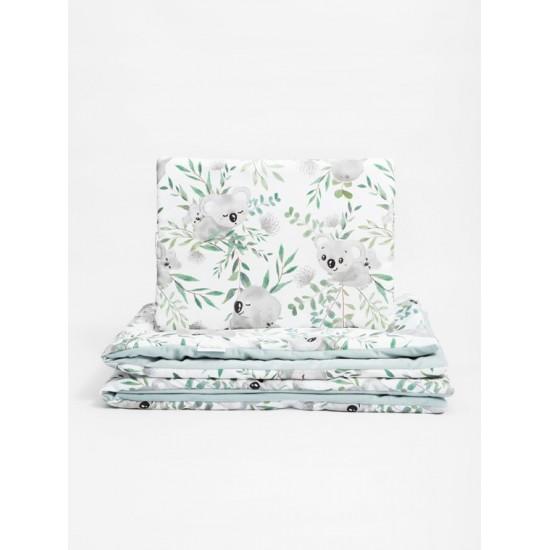 Zamatovo bavlnená detská posteľná bielizeň s motívom koaly
