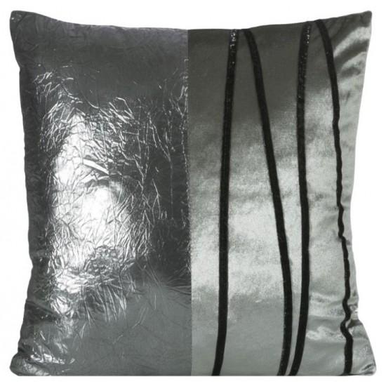 Sivo čierna obliečka na vankúš so vzorom