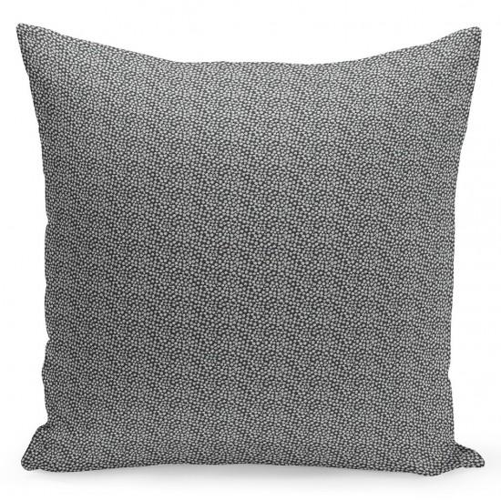Sivo strieborná dekoračná obliečka na vankúš so vzorom