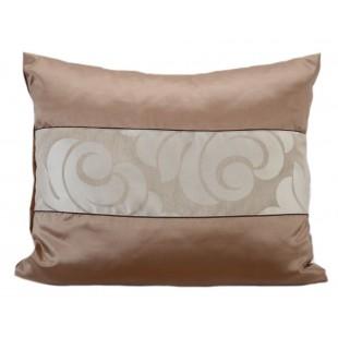 Dekoračná obliečka na vankúš s elegantným vzorom v hnedo béžovej farbe