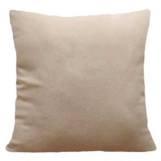 Béžová obliečka na vankúš s jemným vzorom