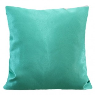 Tyrkysová lesklá jednofarebná obliečka na vankúš