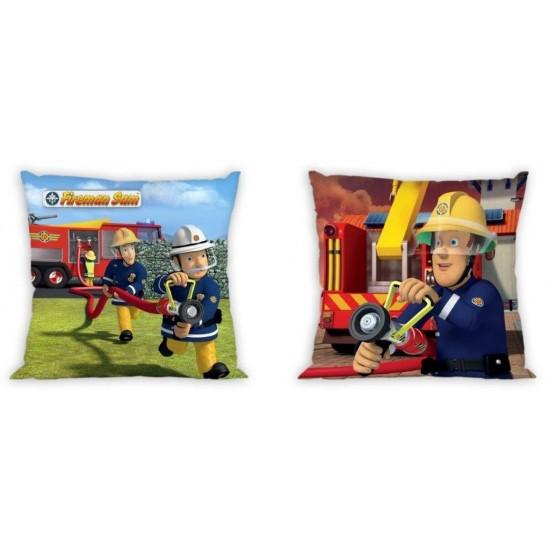 Detská obojstranná obliečka na vankúšik s motívom rozprávky Požiarnik Sam