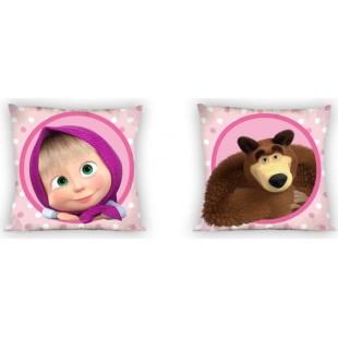Detská obojstranná obliečka na vankúš vzor z rozprávky Máša a Medveď