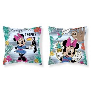 Detská prúžkovaná obojstranná obliečka na vankúš Minnie Mouse