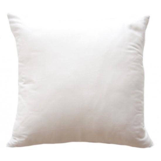 Jednofarebná biela dekorčná obliečka na vankúš