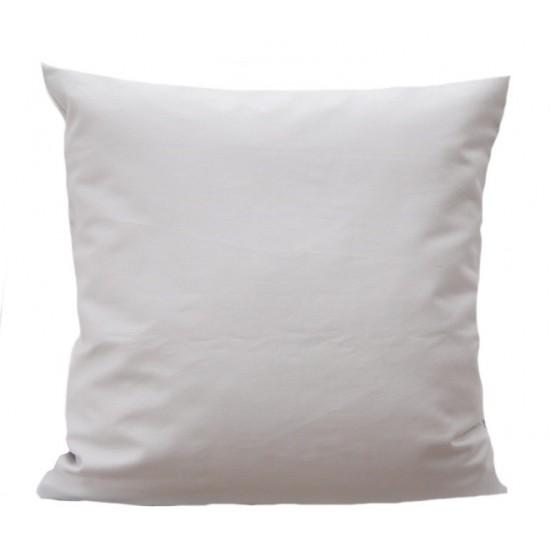 Svetlosivá obliečka na vankúš zo saténovej bavlny