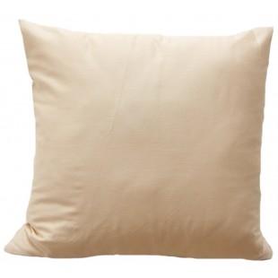 Krémová obliečka na vankúš zo saténovej bavlny