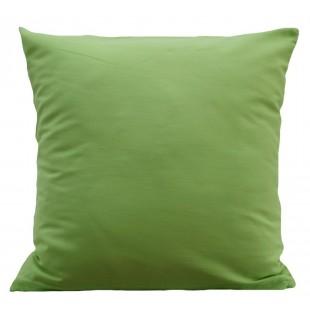 Zelená obliečka na vankúš zo saténovej bavlny