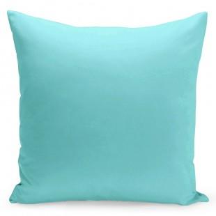 Modrá jednofarebná obliečka na vankúšik