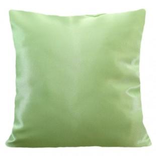 Svetlozelená lesklá jednofarebná obliečka na vankúš