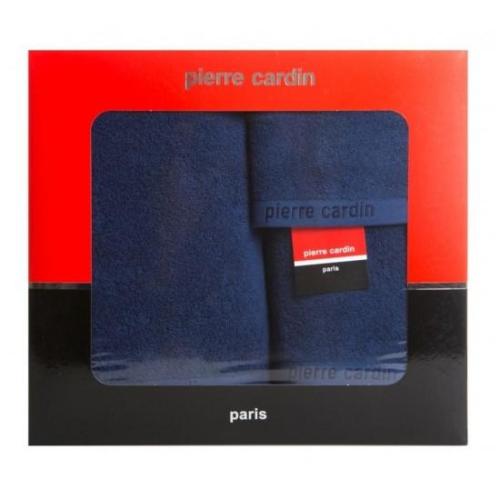 3- časťový komplet uterákov a osušky v tmavomodrej farbe Pierre Cardin